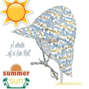 🔴A WHALE OF A SUN HAT BABY HAT